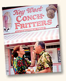 couple eating conch fritters