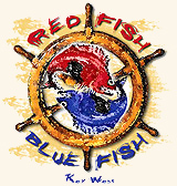 red fish blue fish logo