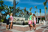 people standing next to Key West Sculpture Garden