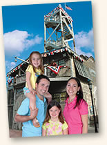 family at Shipwreck Treasures Museum